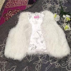 Faux Fur Girls Vest One Size 4-6X